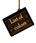 List of colors
